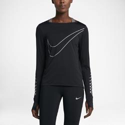 Женская беговая футболка с длинным рукавом Nike Breathe (City)Женская беговая футболка с длинным рукавом Nike Breathe (City) обеспечивает отведение влаги, вентиляцию и комфорт на протяжении всей пробежки.<br>