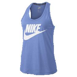 Женская майка с логотипом Nike Sportswear EssentialЖенская майка с логотипом Nike Sportswear Essential из мягкой ткани с Т-образной спиной обеспечивает абсолютную свободу движений.<br>