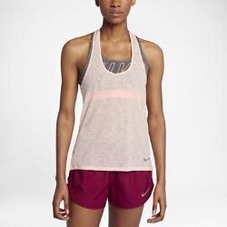 Женская беговая майка Nike Breathe CoolЖенская беговая майка Nike Breathe Cool из невероятно мягкой, легкой и дышащей ткани обеспечивает охлаждение и комфорт на протяжении всей пробежки.<br>