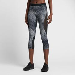 Женские капри для тренинга Nike Pro HyperCool 56 смЖенские капри для тренинга Nike Pro HyperCool 56 см из влагоотводящего тканого материала и сетки обеспечивают легкость, комфорт и превосходную вентиляцию там, где это необходимо.  Воздухопроницаемость  Вставки из эластичной сетки в области коленей, бедер и квадрицепсов обеспечивают охлаждение во время тренировки.  Отведение влаги  Ткань Dri-FIT обеспечивает превосходную воздухопроницаемость и комфорт, выводя влагу на поверхность ткани и позволяя коже дышать.  Невероятная легкость и комфорт  Мягкая ткань, облегающий крой и плоский эластичный пояс позволяют носить эти капри отдельно или как базовый слой.<br>
