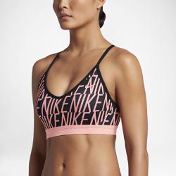 Спортивное бра с легкой поддержкой Nike Indy Block LogoСпортивное бра с легкой поддержкой Nike Indy Block Light из эластичной влагоотводящей ткани обеспечивает удобную посадку и поддержку во время занятий низкой интенсивности.<br>