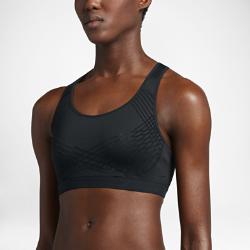 Спортивное бра со средней поддержкой Nike Fierce FlockedСпортивное бра со средней поддержкой Nike Fierce Flocked для занятий средней интенсивности сочетает анатомический крой, выгодно подчеркивающий форму груди, и влагоотводящую ткань. Детали из флокированного материала обеспечивают дополнительную поддержку и создают оригинальный образ.<br>