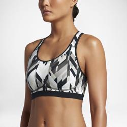 Спортивное бра с принтом со средней поддержкой Nike FierceСпортивное бра с принтом со средней поддержкой Nike Fierce для занятий средней интенсивности сочетает анатомический крой, выгодно подчеркивающий форму груди, и отводящую влагу ткань.<br>