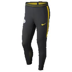 Мужские футбольные брюки Nike Manchester City FC Strike FlexВысокая эластичностьЭластичная ткань Nike Flex повторяет движения тела, позволяя достигать высоких результатов. При растяжении ткани становится виден цветовой акцент, который позволяет создать уникальный образ.<br>