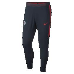 Мужские футбольные брюки Nike Paris Saint-Germain Strike FlexМужские футбольные брюки Nike Paris Saint-Germain Strike Flex из легкой сверхэластичной ткани с водоотталкивающим покрытием защищают от влаги, обеспечивая комфорт и свободу движений на поле.<br>
