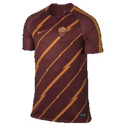 Мужская игровая футболка с коротким рукавом A.S. Roma SquadМужская игровая футболка с коротким рукавом A.S. Roma Squad с фирменной символикой клуба на ткани Dri-FIT обеспечивает комфорт.<br>
