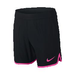 Теннисные шорты для мальчиков школьного возраста Nike Flex Gladiator 15 смТеннисные шорты для мальчиков школьного возраста Nike Flex Gladiator 15 см обеспечивают невесомую защиту и вентиляцию благодаря эластичной влагоотводящей ткани и перфорации сзади.<br>