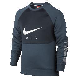 Толстовка для мальчиков школьного возраста Nike Air CrewТолстовка для мальчиков школьного возраста Nike Air Crew из ткани френч терри с легким блеском обеспечивает комфорт и позволяет создать стильный образ на весь день.<br>