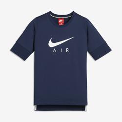 Футболка с коротким рукавом для мальчиков школьного возраста Nike AirФутболка с коротким рукавом для мальчиков школьного возраста Nike Air из дышащего хлопка обеспечивает длительный комфорт.<br>