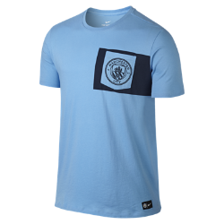 Мужская игровая футболка Manchester City FCМужская игровая футболка Manchester City FC с клубной символикой на мягкой хлопковой ткани отдает дань уважения любимой команде и обеспечивает длительный комфорт.<br>