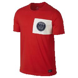 Мужская футболка Paris Saint-Germain FC CrestМужская футболка Paris Saint-Germain FC Crest с клубной символикой на мягкой хлопковой ткани отдает дань уважения любимой команде.<br>