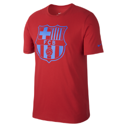 Мужская футболка FC Barcelona Dry CrestМужская футболка FC Barcelona Dry Crest с яркой эмблемой команды создана из мягкой влагоотводящей ткани.<br>