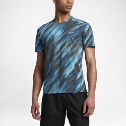 Мужская беговая футболка с коротким рукавом Nike BreatheМужская беговая футболка с коротким рукавом Nike Breathe из сплошной влагоотводящей сетки обеспечивает вентиляцию и комфорт во время бега.<br>