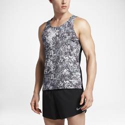 Мужская беговая майка Nike RacingМужская беговая майка Nike Racing из влагоотводящей ткани со вставкой из сетки на спине обеспечивает охлаждение и длительный комфорт.<br>