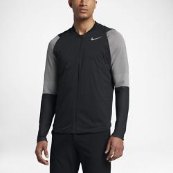 Мужская куртка для гольфа Nike Zoned AeroLayerМужская куртка для гольфа Nike Zoned AeroLayer идеально подходит для игры во влажную и ветреную погоду благодаря водоотталкивающему покрытию и мягкой и теплой ткани, которая не сковывает движений.  Защита от непогоды  Технология Nike AeroLayer включает невесомый утеплитель между влагонепроницаемым внешним слоем и дышащим внутренним слоем для защиты от холода и дождя.  Свобода движений  Конструкция HyperAdapt защищает от непогоды благодаря особой эластичной ткани, которая не сковывает движений.  Обтекаемый дизайн  Низкопрофильный воротник-стойка не натирает кожу и обеспечивает полную свободу движений.<br>
