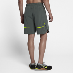 Мужские шорты для тренинга Nike Flex 20,5 смМужские шорты для тренинга Nike Flex 20,5 см обеспечивают полную свободу движений и вентиляцию во время самых интенсивных тренировок.  Свобода движений  Ткань Nike Flex и укороченный шаговый шов 20,5 см обеспечивают свободу движений во время бега, прыжков и занятий тяжелой атлетикой.  Охлаждение  Перфорация по бокам и отводящая влагу технология Dri-FIT обеспечивают комфорт и защиту от перегрева во время самых интенсивных моментов тренировки.  Защита от дождя  Ультралегкая водоотталкивающая ткань защищает от легкого дождя, не влияя на воздухопроницаемость.<br>
