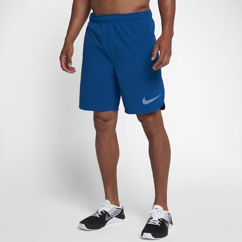 <ナイキ(NIKE)公式ストア> ナイキ フレックス メンズ 21cm トレーニングショートパンツ 833375-433 ブルー