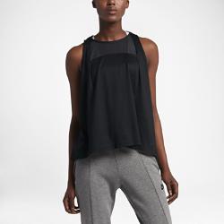 Женская майка Nike Sportswear BondedЖенская майка Nike Sportswear Bonded из мягкой струящейся ткани дополнена вставками из дышащей сетки для повышенного комфорта и ощущения прохлады.<br>
