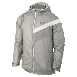 Мужская беговая куртка Nike Impossibly LightМужская беговая куртка Nike Impossibly Light из прочной ткани рипстоп со складной конструкцией обеспечивает защиту от влаги при смене погоды.<br>