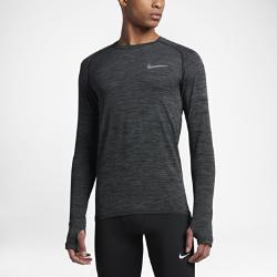 Мужская беговая футболка с длинным рукавом Nike Dri-FIT KnitМужская беговая футболка с длинным рукавом Nike Dri-FIT Knit из гладкой ткани с бесшовной конструкцией обеспечивает превосходную воздухопроницаемость.<br>