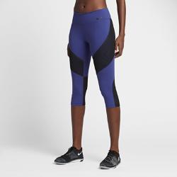 Женские капри для тренинга Nike Power Legendary 51 смЖенские капри для тренинга Nike Power Legendary 51 см из влагоотводящей ткани с сетчатыми вставками обеспечивают компрессионную посадку, воздухопроницаемость и комфорт. Крупный карман на бедре позволяет носить с собой смартфон.<br>