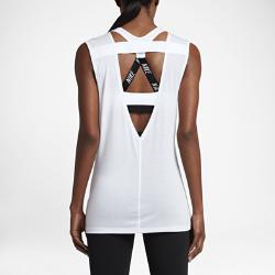 Женская майка для тренинга Nike BreatheЖенская майка для тренинга Nike Breathe из влагоотводящей ткани и дышащей сетки со свободным кроем обеспечивает невероятный комфорт в зале.<br>