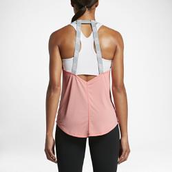 Женская майка для тренинга Nike DryЖенская майка для тренинга Nike Dry из легкой влагоотводящей ткани с минималистичной конструкцией с бретелями обеспечивает вентиляцию, комфорт и свободу движений вовремя тренировки.<br>