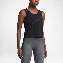 Женская майка для тренинга Nike FlexЖенская майка для тренинга Nike Flex из эластичного тканого материала с влагоотводящей технологией обеспечивает комфорт и свободу движений во время тренировок.<br>