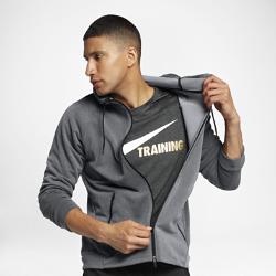 Мужская худи с молнией во всю длину Nike Dri-FIT TrainingМужская худи с молнией во всю длину Nike Dri-FIT Training из влагоотводящей ткани с прилегающим кроем обеспечивает комфорт во время тренировки.<br>