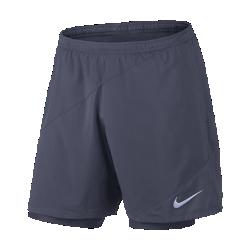 Мужские беговые шорты Nike Distance 2-in-1 18 смМужские беговые шорты Nike Distance 2-in-1 18 см из дышащей эластичной ткани с вшитыми шортами обеспечивают легкость, поддержку, удобную посадку и свободу движений.<br>