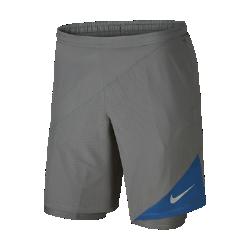 Мужские беговые шорты Nike Distance 2-in-1 23 смМужские беговые шорты Nike Distance 2-in-1 23 см из легкой и дышащей эластичной ткани с вшитыми шортами обеспечивают поддержку, удобную посадку и свободу движений.<br>