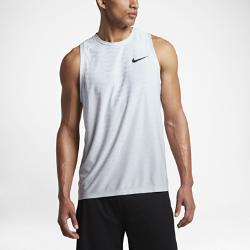 Мужская майка для тренинга Nike Zonal CoolingМужская майка для тренинга Nike Zonal Cooling с конструкцией без рукавов и технологией охлаждения в ключевых зонах обеспечивает вентиляцию во время тренировки.<br>