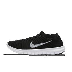Женские беговые кроссовки Nike Free RN Motion FlyknitЖенские беговые кроссовки Nike Free RN Motion Flyknit обеспечивают наилучшую в истории Nike естественность движений. Удобный верх Flyknit обеспечивает поддержку, а революционно новый рисунок подошвы позволяет кроссовкам расширяться и возвращать изначальную форму при каждом шаге для максимального удобства во время бега.  Максимальная естественность движений  Подошва Nike Free нового поколения расширяется в нескольких направлениях благодаря революционному рисунку tri-star, что обеспечивает абсолютно новый уровень гибкости и динамичности движений. Кроме того, скругленная форма пятки повторяет форму стопы и обеспечивает плавность движений.  Улучшенная амортизация  Подошва двойной плотности создана с использованием сверхмягкого пеноматериала в середине и оболочки из более жесткого пеноматериала для оптимальной амортизации, комфорта, прочности и естественности движений.  Плотная посадка  Прочный практически бесшовный верх из материала Flyknit включает эластичное полиэстерное волокно для компрессионной посадки и естественности движений. Нити Flywire в верхе объединены со шнурками для обеспечения динамической поддержки.  Подробнее  Бортик с вырезом позволяет легко снимать и надевать обувь Скругленная пятка обеспечивает естественную свободу движений Легкие вставки из твердой резины в области пальцев и пятки для дополнительного сцепления с поверхностью и прочности Вес: 165 г (женский размер 8) Перепад: 4 мм  Истоки Nike Free  Узнав, что спортсмены Стэнфордского университета тренируются босиком на поле для гольфа, три самых изобретательных и креативных сотрудника Nike взялись за разработку кроссовок, которые бы не ощущались на ноге и сидели, словно вторая кожа. В течение восьми лет специалисты изучали биомеханику стопы во время бега. В результате имудалось рассчитать естественный угол приземления стопы, давление и положение носка, что позволило дизайнерам Nike создать уникальные и гибкие беговые кроссовки профессионального к