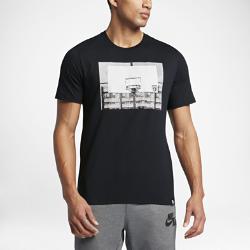 Мужская футболка Nike Basketball HoopМужская футболка Nike Basketball Hoop из чистого хлопка обеспечивает мягкость и комфорт.<br>