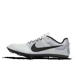 Беговые шиповки унисекс Nike Zoom Victory 3Минималистичная конструкция беговых шиповок унисекс Nike Zoom Victory 3 обеспечивает исключительную легкость, а инновационная шипованная пластина сочетает гибкие и жесткие зоны для импульса при отталкивании. Идеальны для дистанций от 1500 м до 5 км.<br>