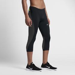 Мужские беговые тайтсы длиной 3/4 Nike PowerМужские беговые тайтсы длиной 3/4 Nike Power из компрессионной ткани с несколькими карманами — идеальный выбор для бега по пересеченной местности и на длинные дистанции.<br>