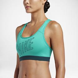 Спортивное бра Nike Classic Padded LogoСпортивное бра Nike Classic Padded Logo отводит влагу от кожи, обеспечивая фиксацию и поддержку во время занятий средней интенсивности: тренировок, бега и кардионагрузок.  Плотная посадка  Компрессионная ткань обеспечивает разнонаправленную поддержку, а мягкий эластичный пояс под грудью — удобную посадку и надежную фиксацию во время бега, прыжков иупражнений на растяжку.  Комфорт и защита  Съемные вкладыши формируют красивый силуэт, обеспечивая комфорт, защиту и поддержку.  Комфорт  Ткань Dri-FIT обеспечивает превосходную воздухопроницаемость и комфорт, выводя влагу на поверхность ткани и позволяя коже дышать.<br>