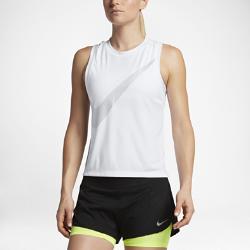 Женская беговая майка Nike Dry (City)Женская беговая майка Nike Dry (City) из влагоотводящей ткани с широкими проймами обеспечивает комфорт и свободу движений во время пробежки.<br>