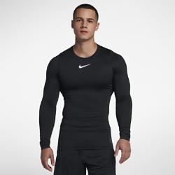 Мужская футболка для тренинга с длинным рукавом Nike Pro WarmМужская футболка для тренинга с длинным рукавом Nike Pro Warm из влагоотводящей термоткани обеспечивает тепло и комфорт во время тренировок в холодную погоду<br>