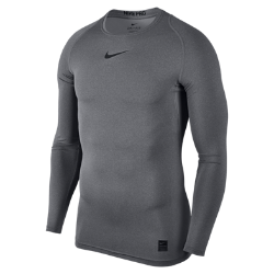Мужская футболка с длинным рукавом Nike ProМужская футболка с длинным рукавом Nike Pro из легкой и эластичной влагоотводящей ткани со вставками из сетки обеспечивает комфорт и охлаждение во время тренировок.<br>
