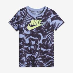 Футболка для девочек школьного возраста Nike Sportswear FuturaФутболка для девочек школьного возраста Nike Sportswear Futura из мягкой ткани обеспечивает комфорт на каждый день.<br>