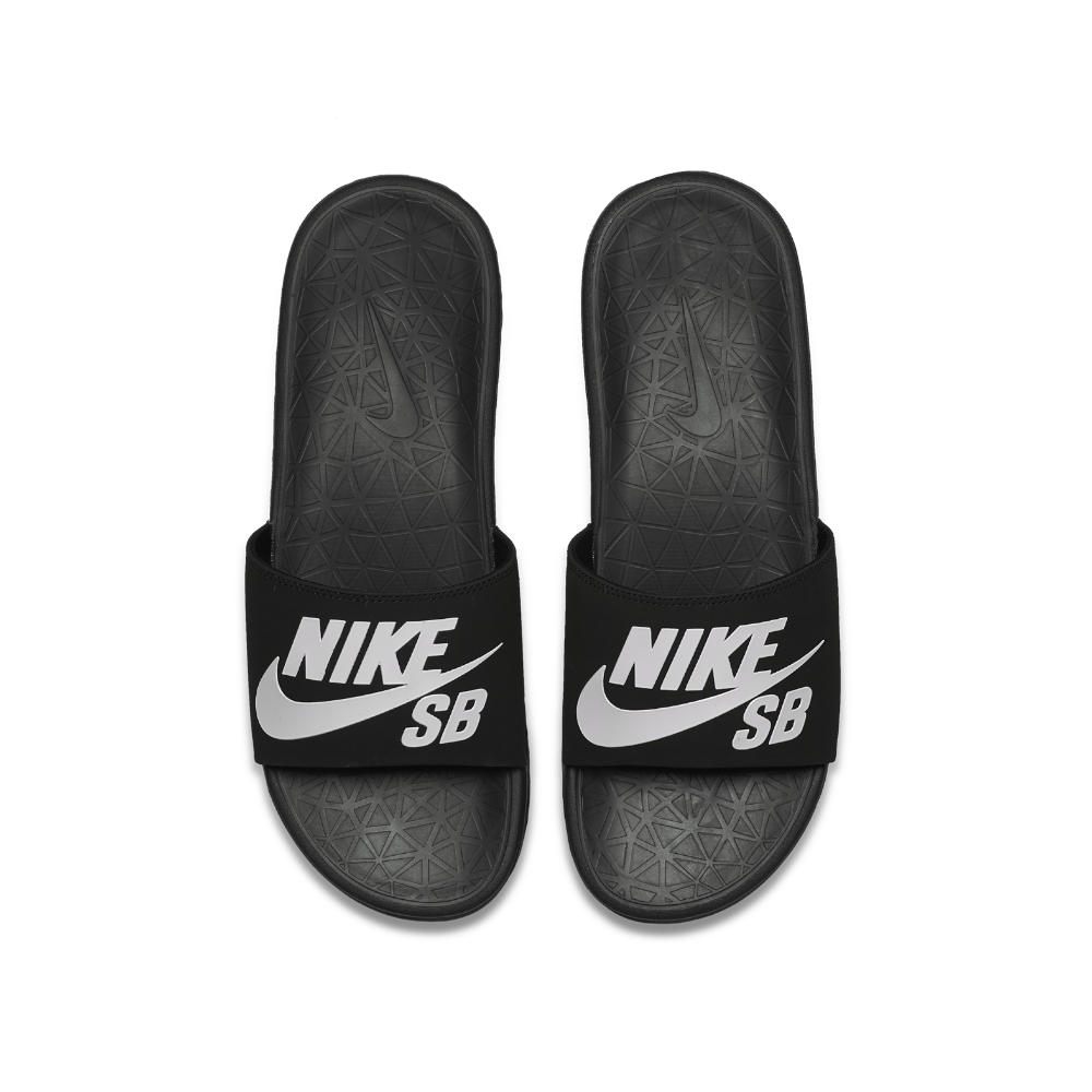 Nike SB Benassi Solarsoft Men's Slide Size 8 (Black)