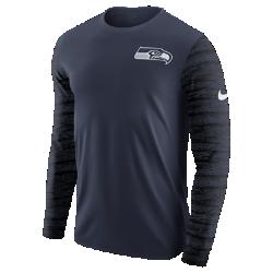 Мужская футболка с длинным рукавом Nike Enzyme Pattern (NFL Seahawks)Мужская футболка с длинным рукавом Nike Enzyme Pattern (NFL Seahawks) из ультрамягкого хлопка дополнена клубными деталями.<br>