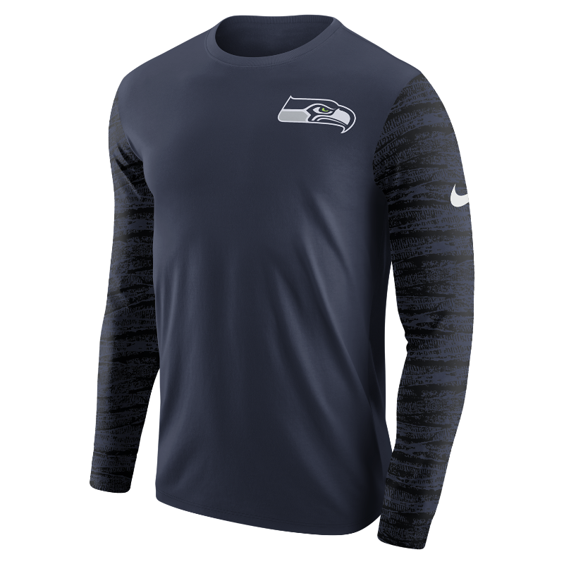 Nike Enzyme Pattern (NFL Seahawks) Men's Long-Sleeve T-Shirt
