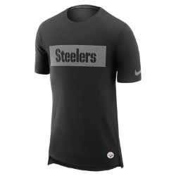 Мужская футболка Nike Enzyme Droptail (NFL Steelers)Мужская футболка Nike Enzyme Droptail (NFL Steelers) из ультрамягкого хлопка украшена клубными деталями.<br>