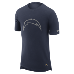 Мужская футболка Nike Enzyme Droptail (NFL Chargers)Мужская футболка Nike Enzyme Droptail (NFL Chargers) из ультрамягкого хлопка украшена клубными деталями.<br>