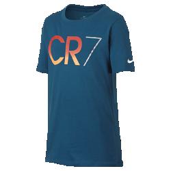 Футболка для мальчиков школьного возраста Nike CR7Игровая футболка для мальчиков школьного возраста Nike CR7 из невероятно мягкой ткани с фирменными деталями обеспечивает длительный комфорт.<br>