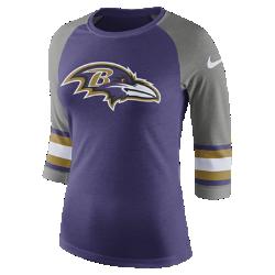 Женская футболка с рукавом 3/4 Nike Tri-Blend Raglan (NFL Ravens)Женская футболка с рукавом 3/4 Nike Tri-Blend Raglan (NFL Ravens) из ультрамягкой ткани украшена яркими клубными деталями.<br>
