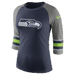 Женская футболка с рукавом 3/4 Nike Tri-Blend Raglan (NFL Seahawks)Женская футболка с рукавом 3/4 Nike Tri-Blend Raglan (NFL Seahawks) из ультрамягкой ткани украшена яркими клубными деталями.<br>