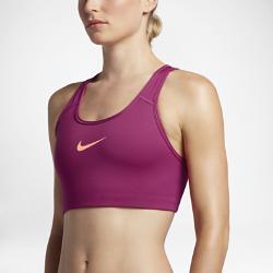 Спортивное бра со средней поддержкой Nike Classic SwooshСпортивное бра со средней поддержкой Nike Pro Classic Swoosh с компрессионной посадкой и V-образными бретелями обеспечивает среднюю поддержку и свободу движений во время тренировки.<br>